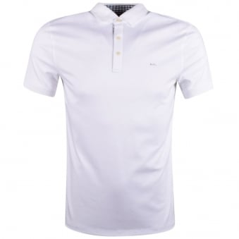 Michael Kors White Logo Short Sleeve Polo Shirt