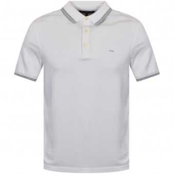 Michael Kors White Stretch Cotton Polo Shirt