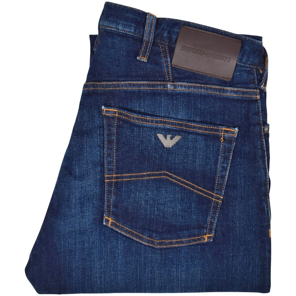 4e62c5ba EMPORIO ARMANI Mid Wash Blue J21 Regular Fit Jeans - Department from ...