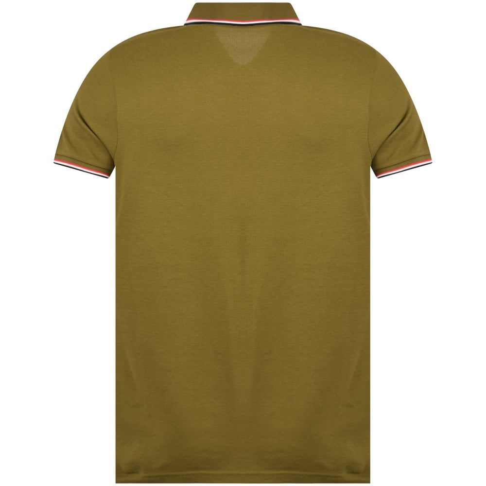 6d8817f79 MONCLER Olive Classic Tipped Polo Shirt - Men from Brother2Brother UK