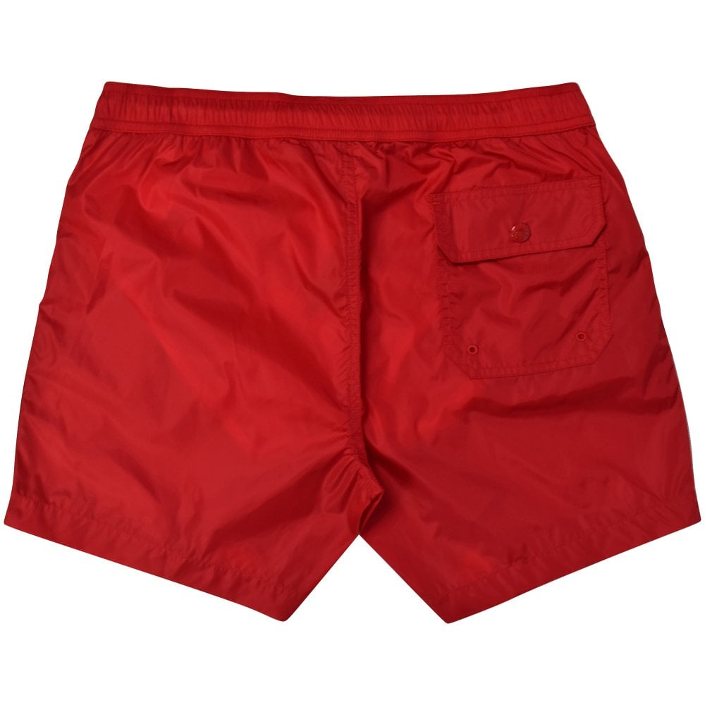 9256888711158 MONCLER Red Side Strip Swim Shorts - Department from Brother2Brother UK