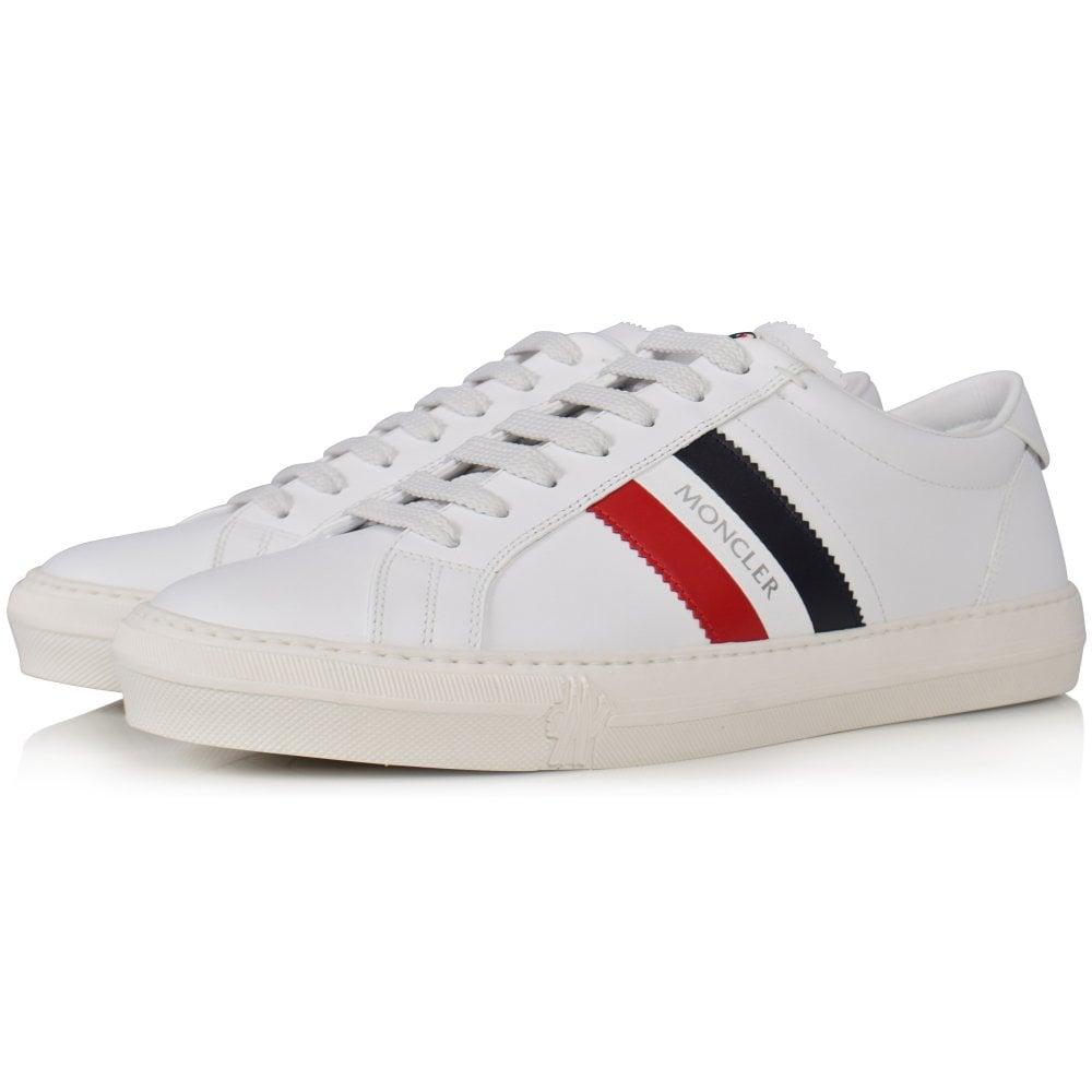 940ab2e2a White Monaco Tricolour Leather Trainers