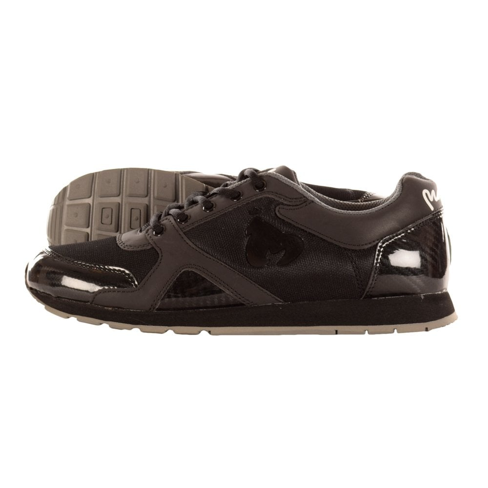 lace up in watch buy Money Black on Black Blade Mens Trainer