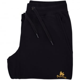 Money Clothing Black/Gold Ape Logo Jogging Bottoms