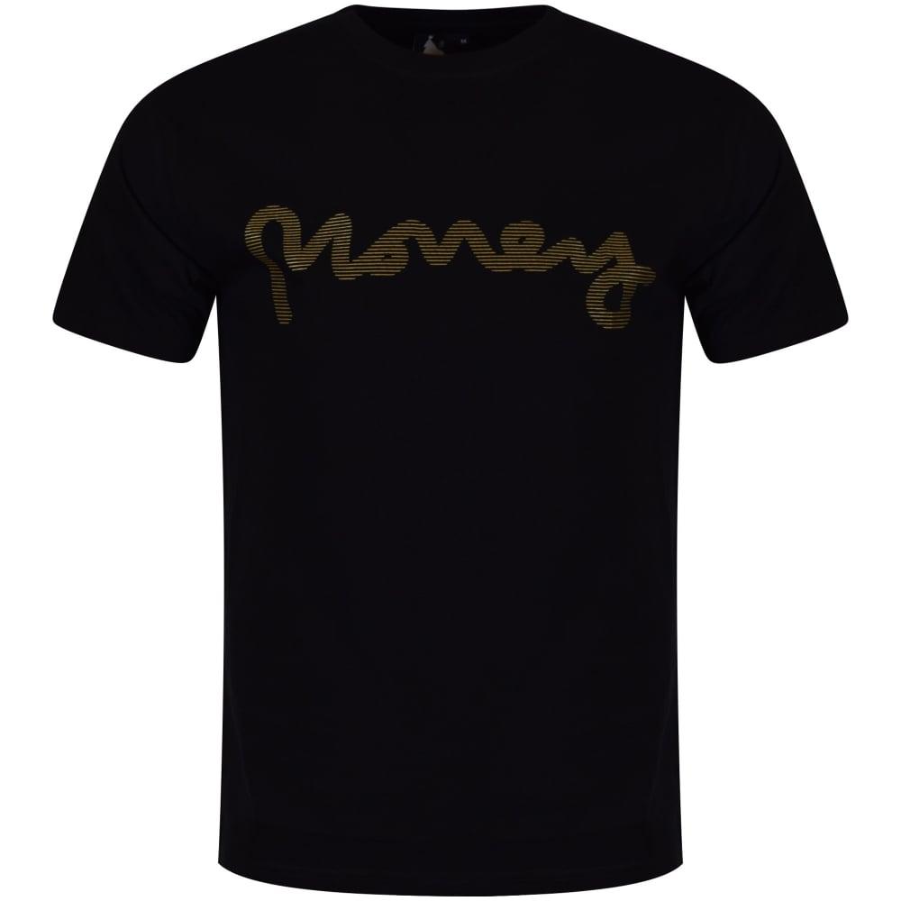 MONEY CLOTHING Money Clothing Black Gold Logo T-Shirt - Men from ... 45ea5ae09f03