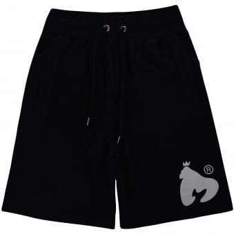 Money Clothing Black Logo Jogger Shorts