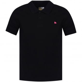 Money Clothing Black/Pink Logo Polo Shirt