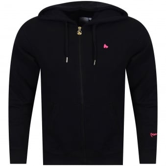 Money Clothing Black/Pink Logo Zip Hoodie