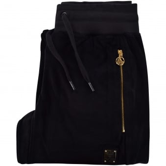 Money Clothing Black Velour Track Pant