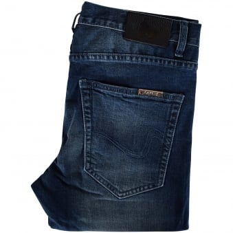 Money Clothing Blue Metal Clip Skinny Jeans