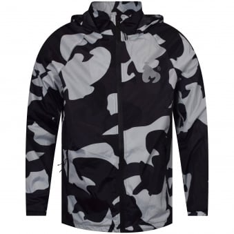Money Clothing Full Zip Black Camo Jacket