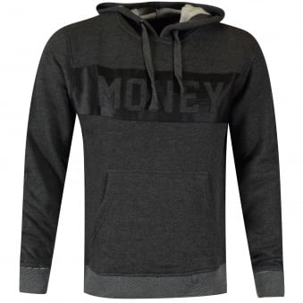Money Clothing Grey Money Logo Pullover Hoodie