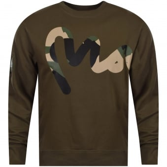 Khaki/Camo Logo Sweat