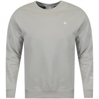 Money Clothing Light Grey/White Logo Sweatshirt