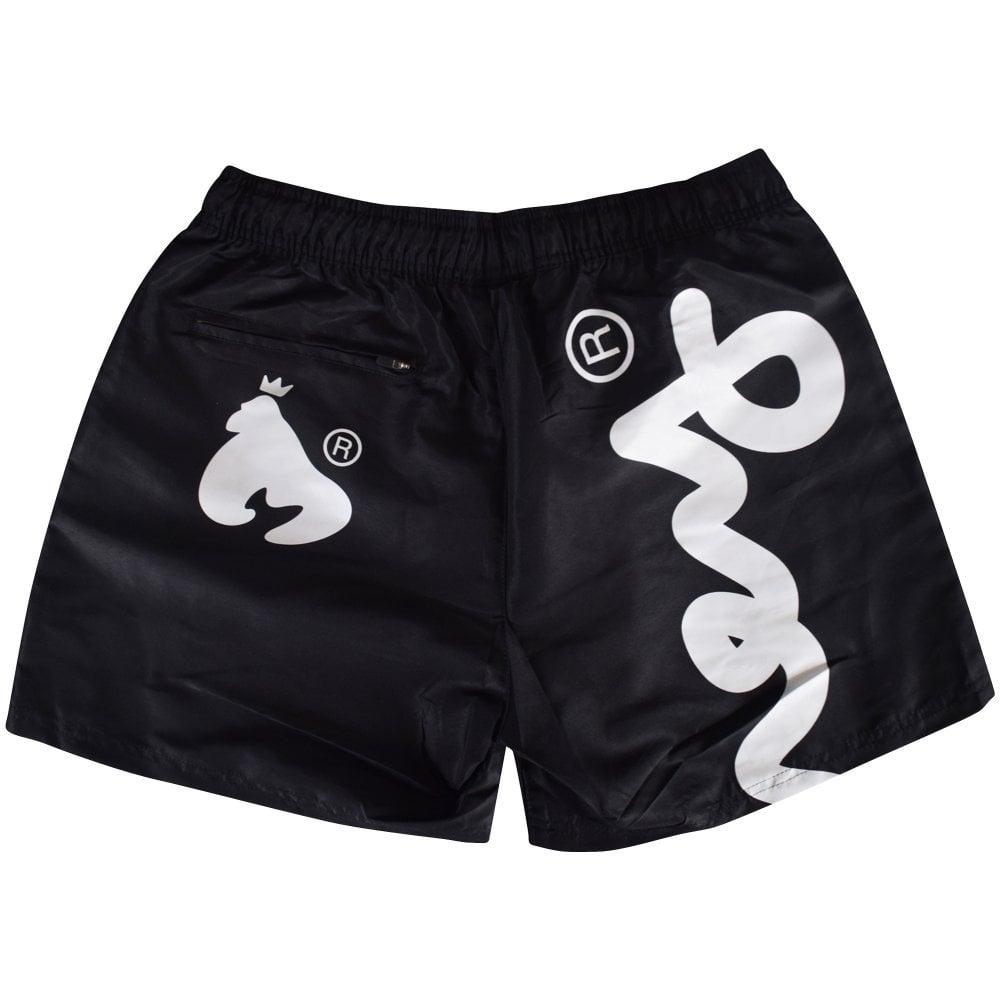 4c7ba43c57 MONEY CLOTHING Money Black/White Swim Trunks - Men from ...