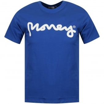 Money Blue/White Logo T-Shirt