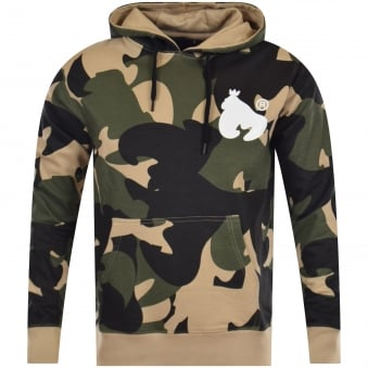 Money Olive Camo Pullover Hoodie