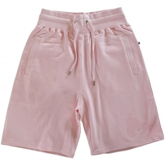 Money Clothing Soft Pink Logo Jogger Shorts