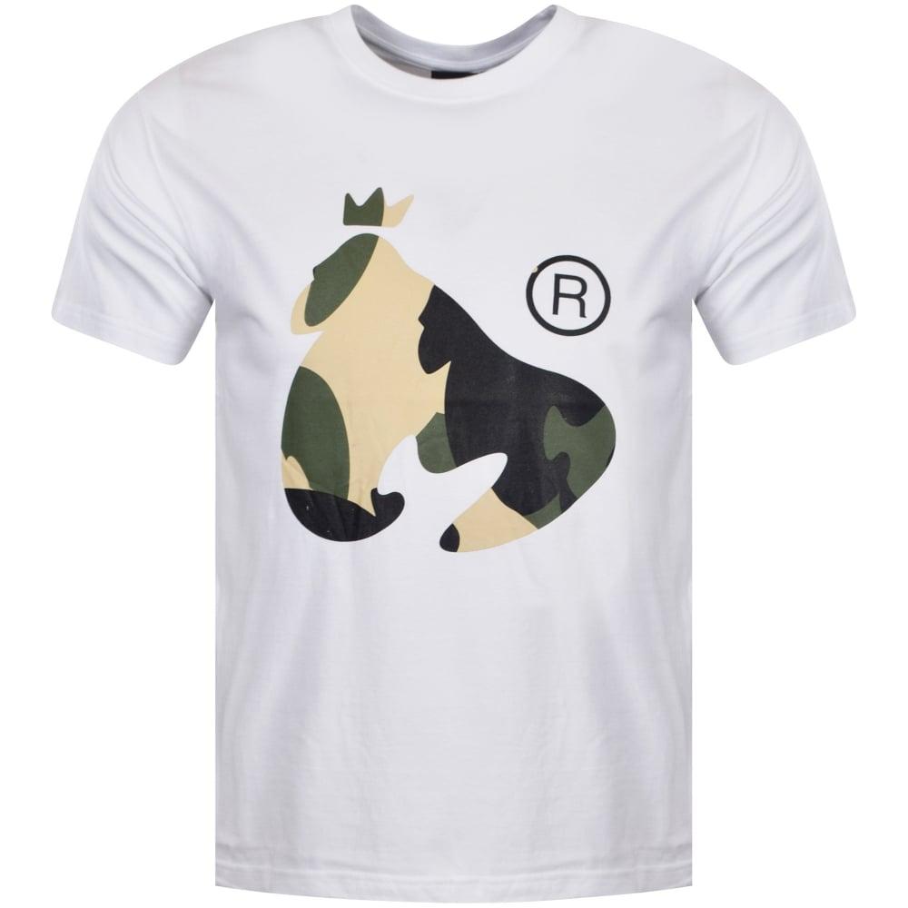 MONEY CLOTHING Money Clothing White Camo Ape T-Shirt - Men from ... 05d68199b306