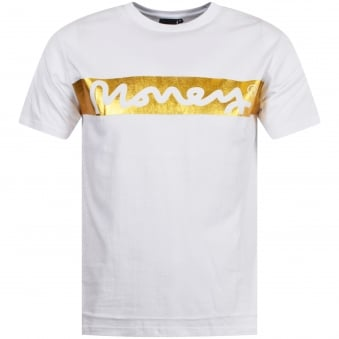 Money Clothing White/Gold Money Bloc Tee