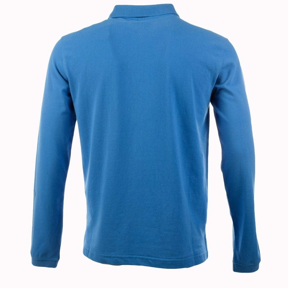 Money Clothing Money Light Blue Long Sleeve Polo Shirt