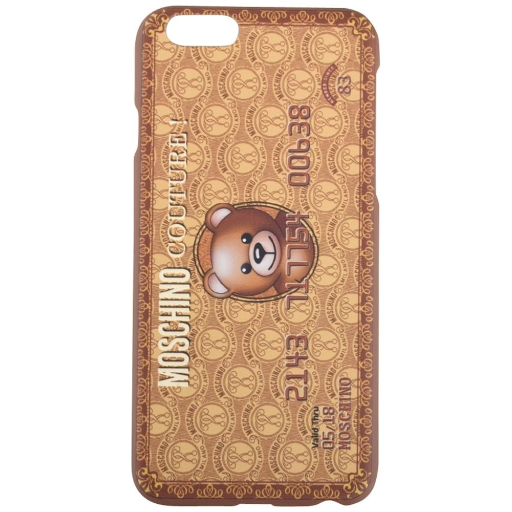 new concept 78337 5b7ba Moschino Beige Teddy Bear Credit Card Iphone 6/6s Case