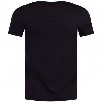Moschino Black All Over Text T-Shirt