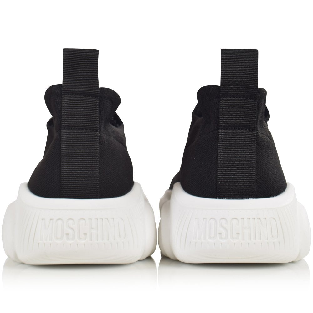 b15bedacf MOSCHINO Black/White Logo Slip-On Trainers - Department from ...