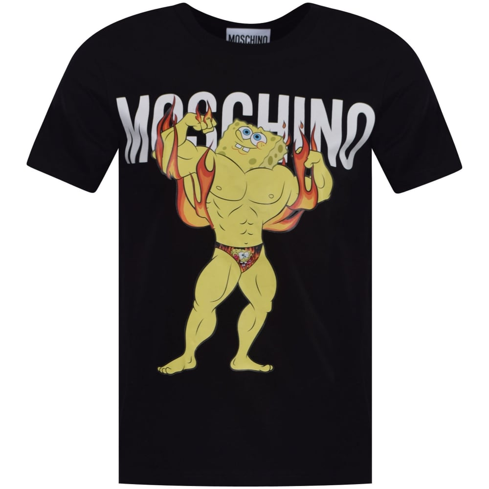 Footaction Cheap Price Sponge Bob printed T-shirt - Black Moschino Sneakernews Sale Online bNjXmKBKx0
