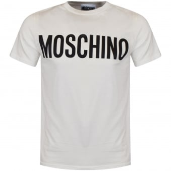 Moschino Cream Logo T-Shirt