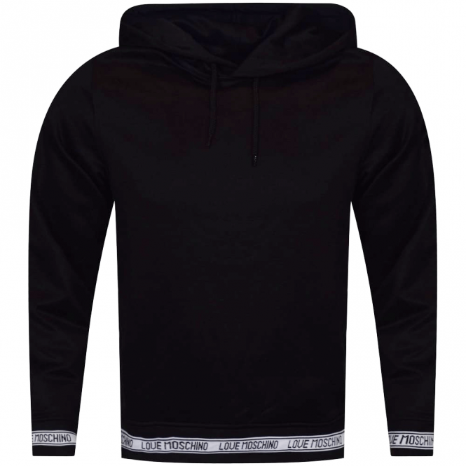 love moschino moschino jeans black pullover hoodie men from brother2brother uk. Black Bedroom Furniture Sets. Home Design Ideas