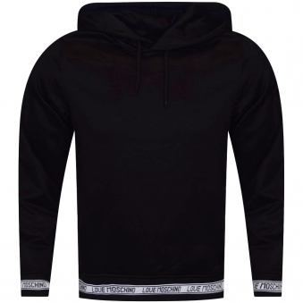 Moschino Jeans Black Pullover Hoodie