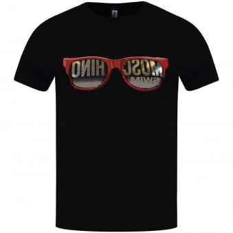 Moschino Jeans Black Sunglasses Design T-Shirt