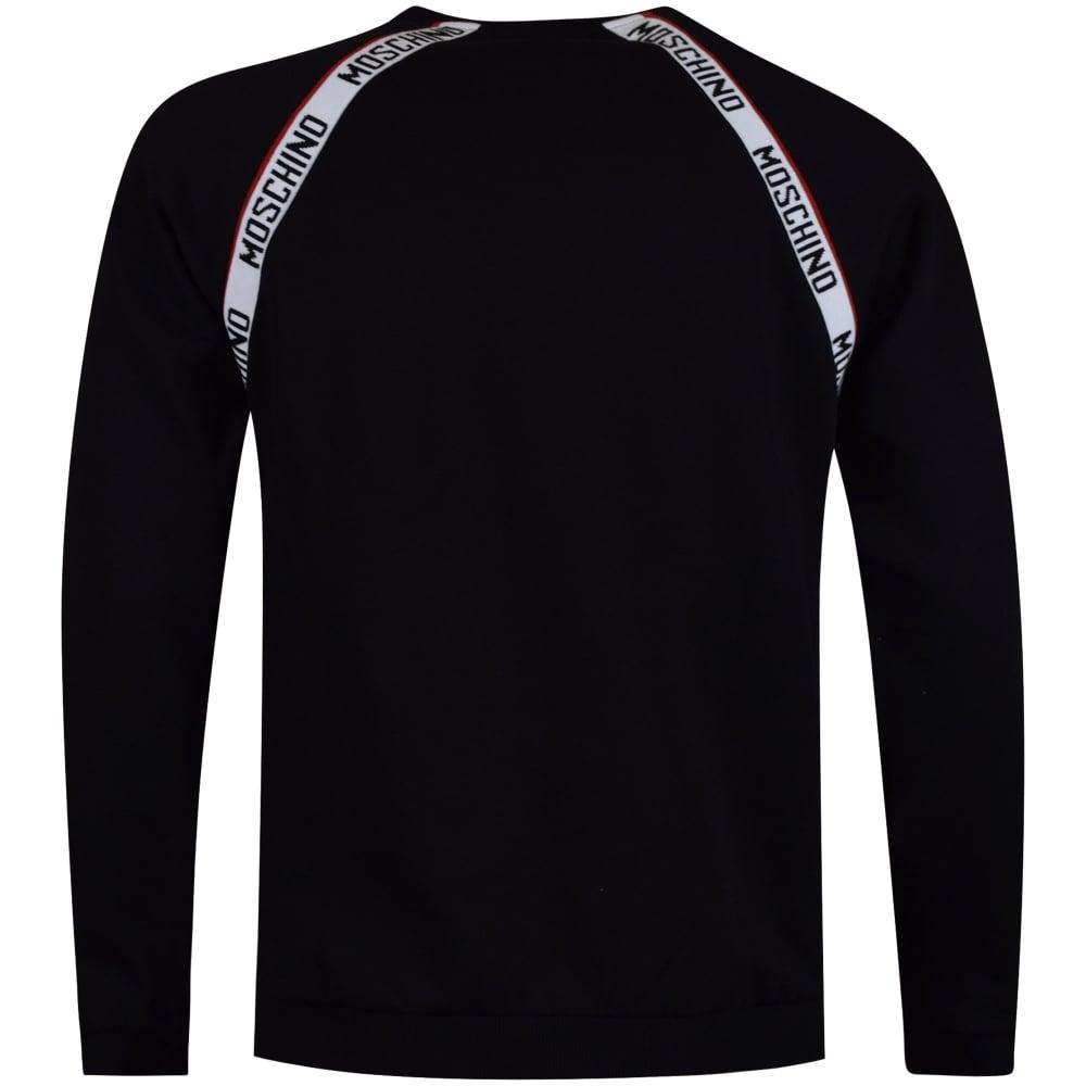 Moschino Logo Tape Sweatshirt Red