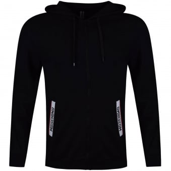 Moschino Jeans Black Tape Pocket Hoodie