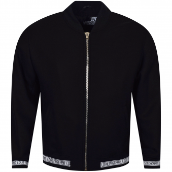 Moschino Jeans Black/White Tape Padded Bomber Jacket