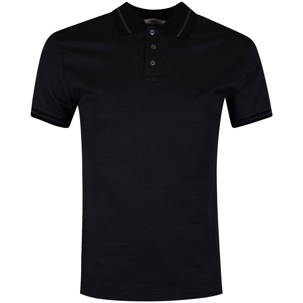 moschino moschino jeans grey amp black back logo polo shirt