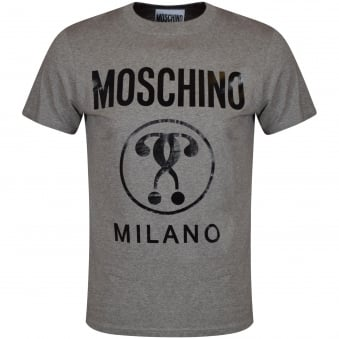 Moschino Jeans Grey Printed Logo T-Shirt