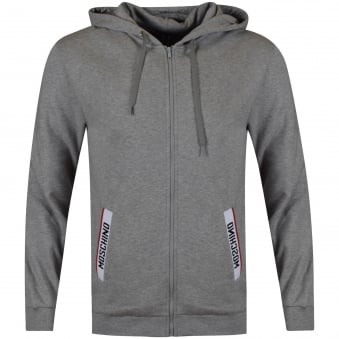 Moschino Jeans Grey Tape Pocket Hoodie
