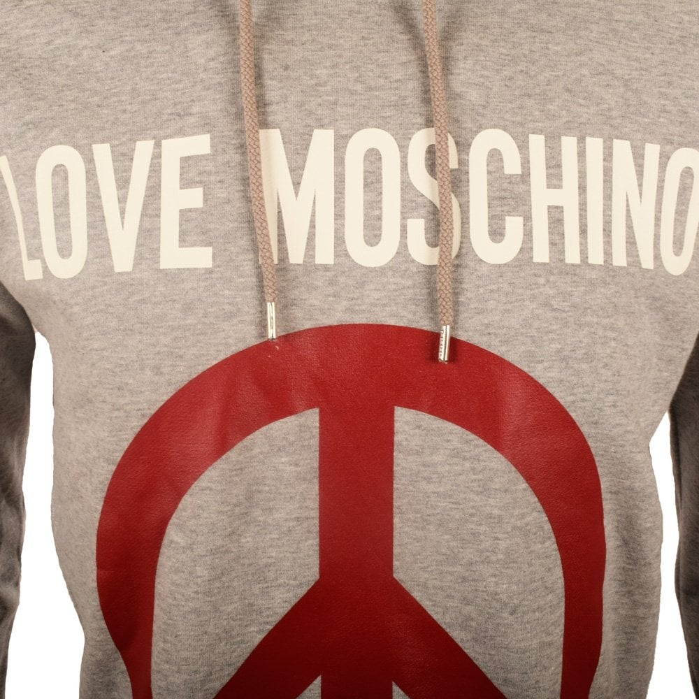 moschino jeans moschino grey love moschino pullover hoodie moschino jeans from brother2brother uk. Black Bedroom Furniture Sets. Home Design Ideas
