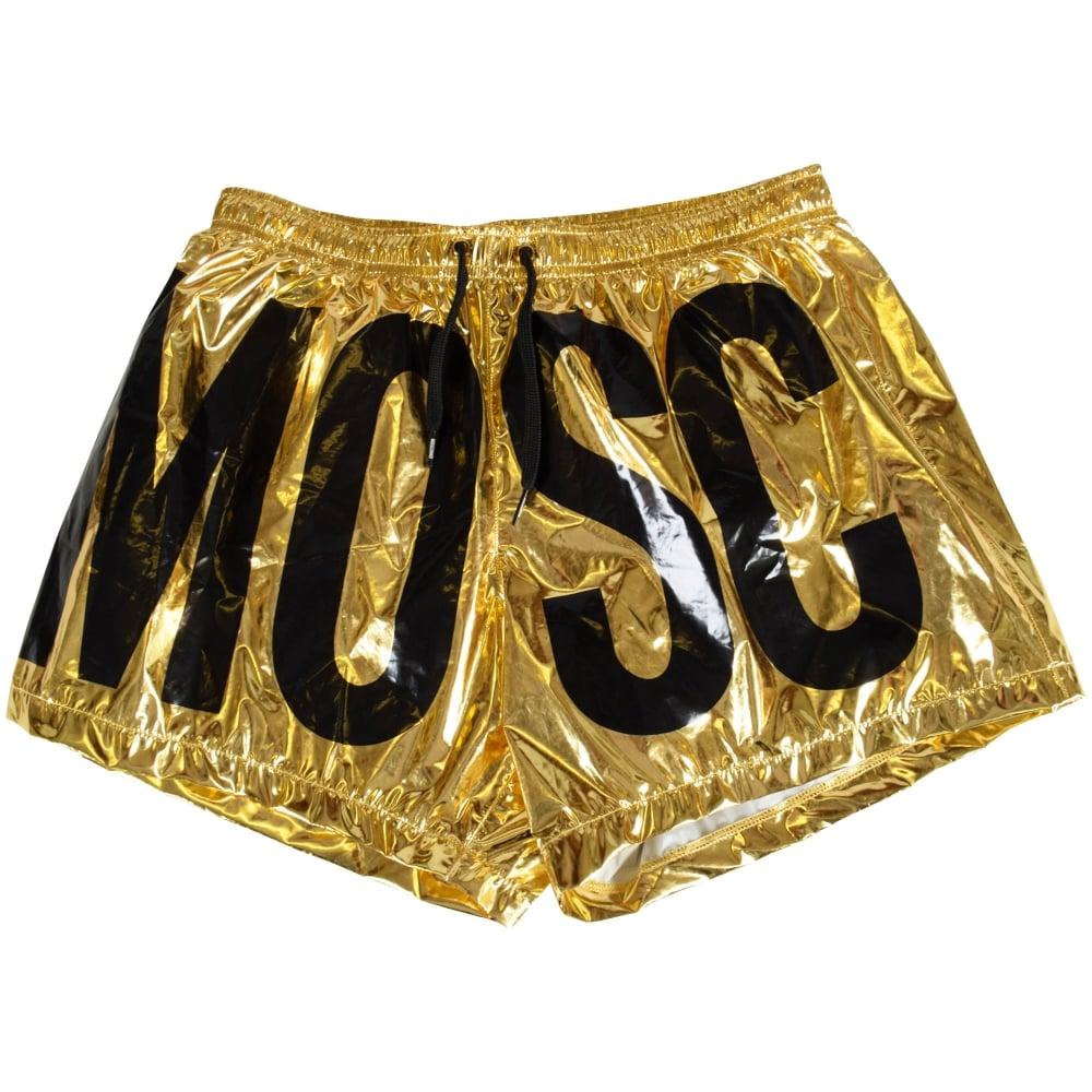 3fb3112b33 MOSCHINO Moschino Swim Gold/Black Swim Shorts - Men from ...