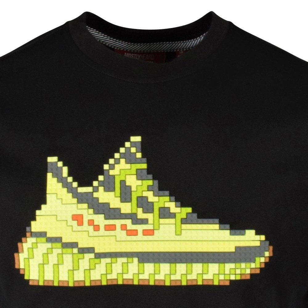 MOSTLY HEARD RARELY SEEN 8-BIT Black Neon Yeezy T-Shirt