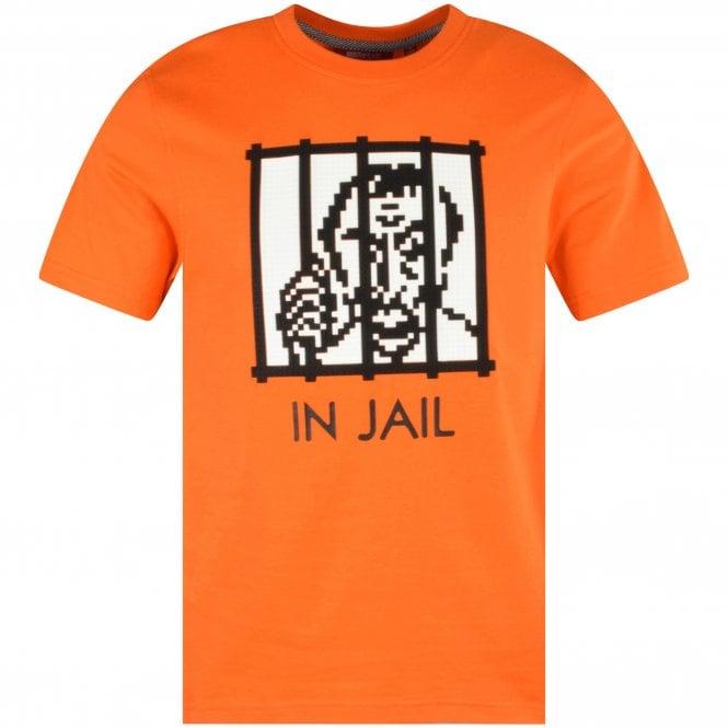MOSTLY HEARD RARELY SEEN 8-BIT Orange Bars T-Shirt front