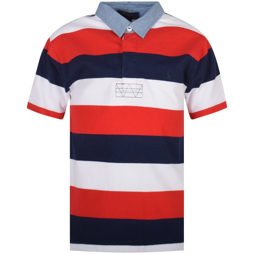 54f52f6fec2 POLO RALPH LAUREN JUNIOR Multi Stripe Rugby Polo Shirt - Junior from ...