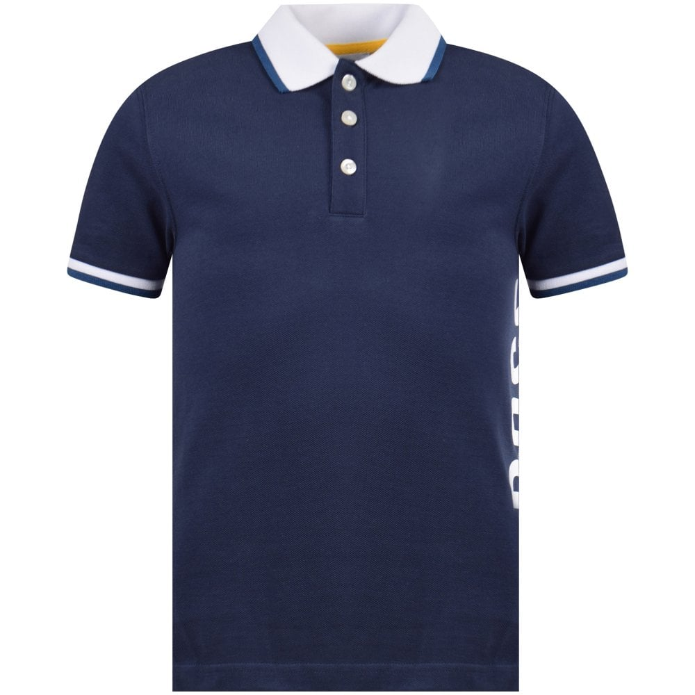 74d4b095558 HUGO BOSS JUNIOR Navy Blue Cotton Polo Shirt - Junior from Brother2Brother  UK