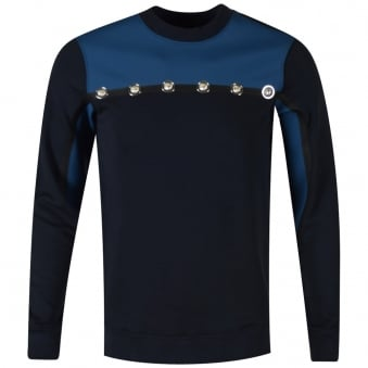 Navy Blue Sports Style Versus Versace Sweatshirt
