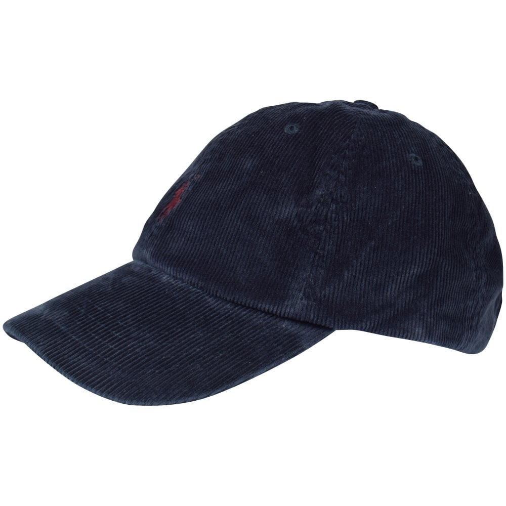 44bd249e4febd4 POLO RALPH LAUREN Navy Corduroy Sports Cap - Men from Brother2Brother UK