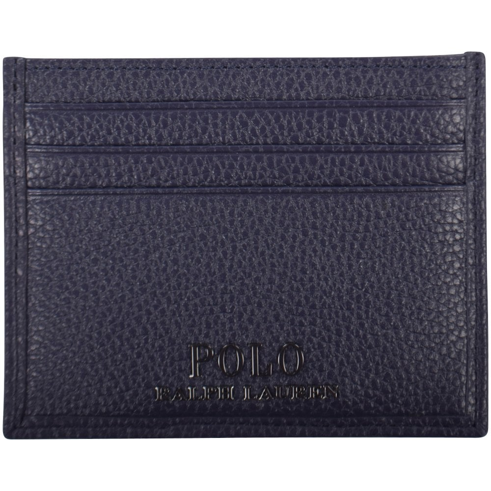 f102007f9a4 POLO RALPH LAUREN Navy Grained Leather Card Holder - Department from ...