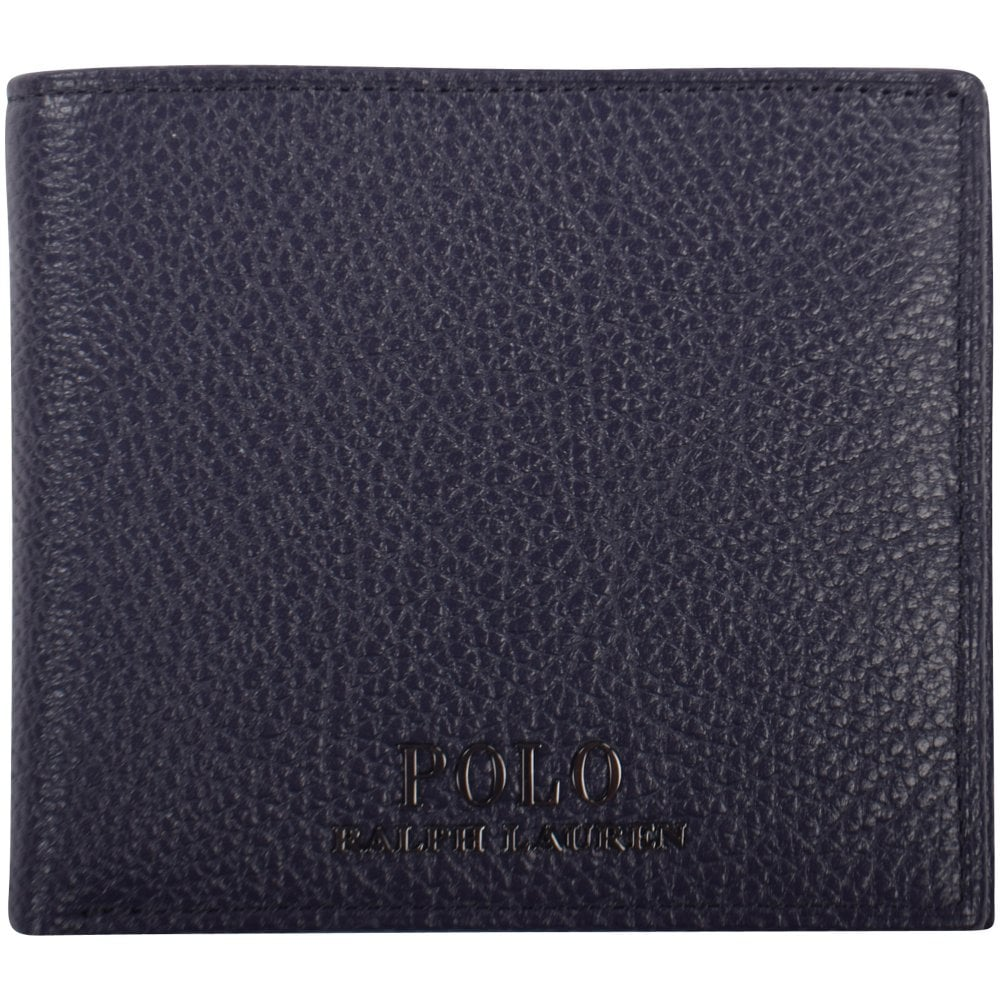 c540d473ff1c POLO RALPH LAUREN Navy Grained Leather Wallet - Men from ...