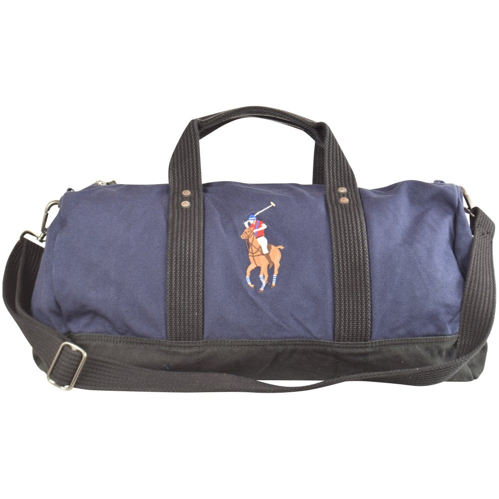 022bfdc1bbf3 POLO RALPH LAUREN Navy Logo Canvas Duffle Bag - Men from Brother2Brother UK